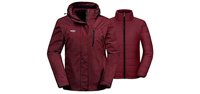Wantdo Women's 3 in 1 Waterproof - Best Waterproof Jacket Women