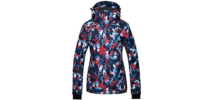 Wantdo Women's Waterproof - Rain Ski Jacket