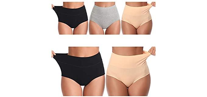 UMMISS Women's High Waist Underwear - Comfortable Briefs