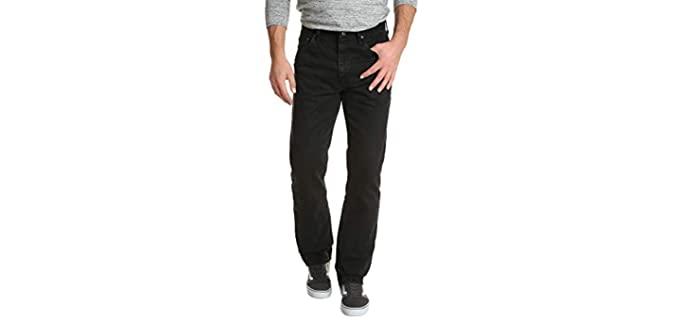 Wrangler Men's Authentics - Relaxed Fit Cotton Jeans