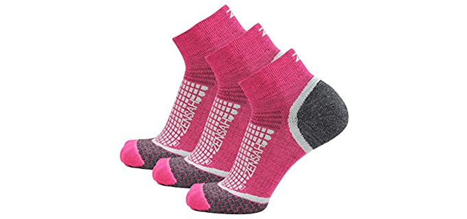 Zensah Unisex Wool Running Socks - Best Athletic Socks