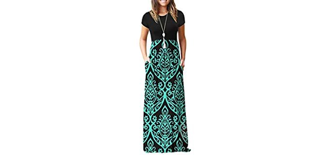 Auselily Women's Casual - Maxi Dress
