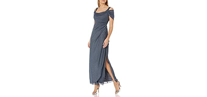 Alex Evenings Women's Grey Prom Dress - Grey Prom Dress for Wedding