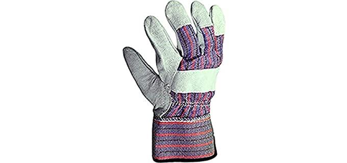 Azusa Safety Unisex Leather Safety Gloves - Best Safety Gloves - 120 pairs
