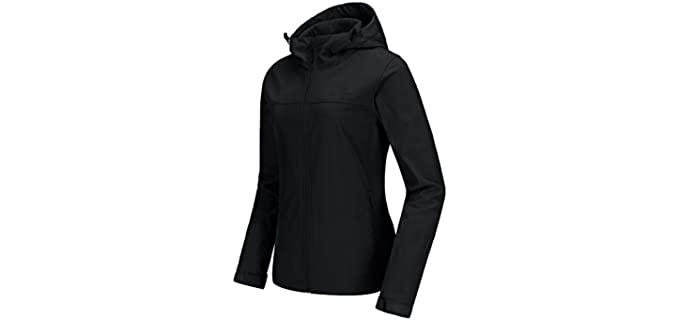 Camel Crown Women's Fleece Lined - Softshell Jacket