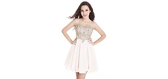 Babyonlinedress Women's Short Quinceanera Dress - Best Quinceanera Dress for Sale