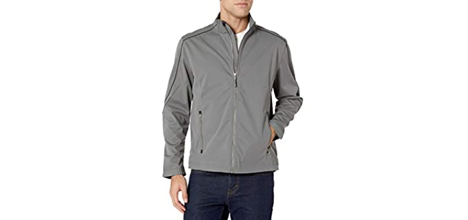 Cutter and Buck Men's Midweight - Weather Resistant Softshell Jacket