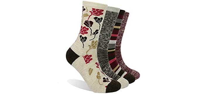 EnerWear Women's Hiking Socks Women's - Merino Wool Socks Hiking