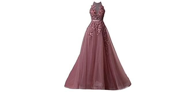Fanciest Women's halter - Prom Dress