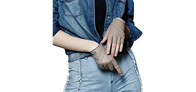 Fioretto Women's Fingerless - Driving Gloves