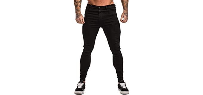 Gingtto Men's Ripped - Skinny Jean