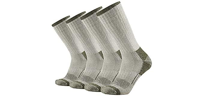GKX Men's Moisture Wicking Socks - Best Crew Socks