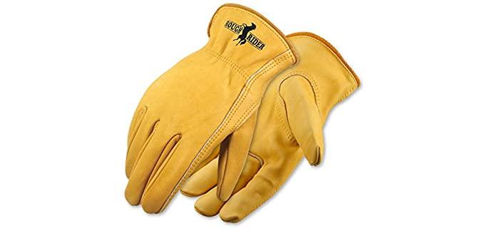 Galeton Men's Rough Rider - Premium Leather Work Gloves