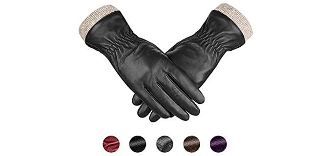 Alepo Men's Sheepskin Leather Gloves - Sheepskin Driving Gloves