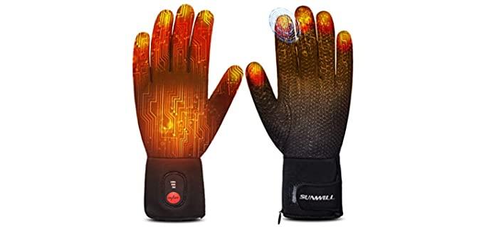 Sun Will Unisex Heated Thin Gloves - Sun Will Heated Gloves