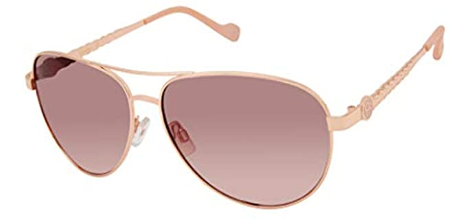Jessica Simpson Unisex Metal Aviator Sunglasses - Best Aviator Sunglasses for Unisex