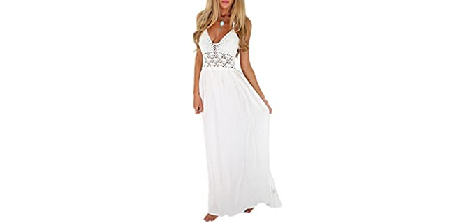 Lilbetter Women's Beach - Crochet Maxi Dress