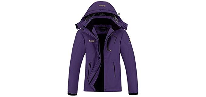 Moerdeng Women's waterproof - Winter Ski Coat