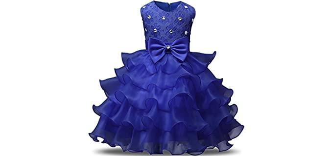 NNJXD Girl's Ruffles - Ruffles Quinceanera Dress