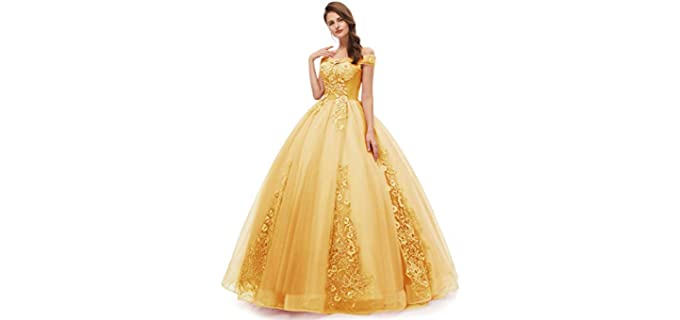 Okaybrial Women's Off Shoulder Prom Gown - Best Ball Gown