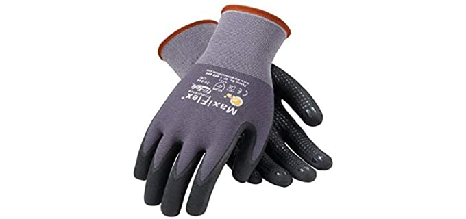 PIP Unisex Maxiflex Gloves - Grey Work Gloves