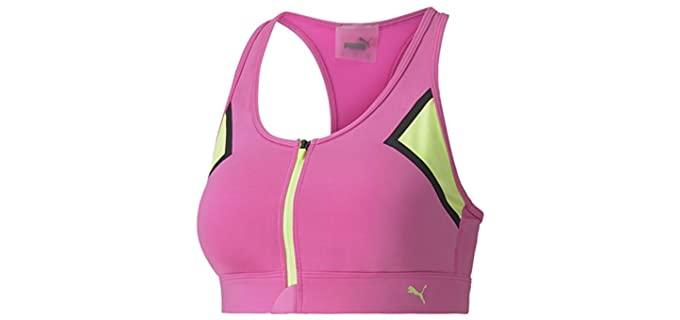 Puma Women's Front Zip - High Impact Sports Bra