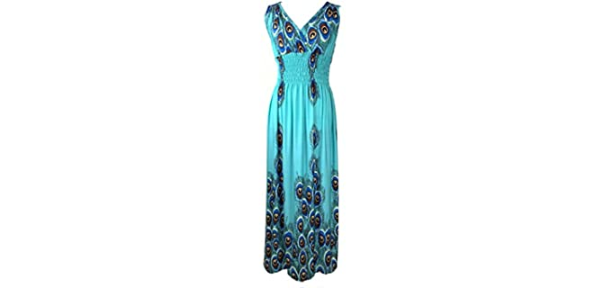 Women's Feathers - Exotic Maxi Dress