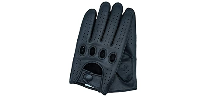 Riparo Men's Genuine Leather Driving Gloves - Car Driving Gloves