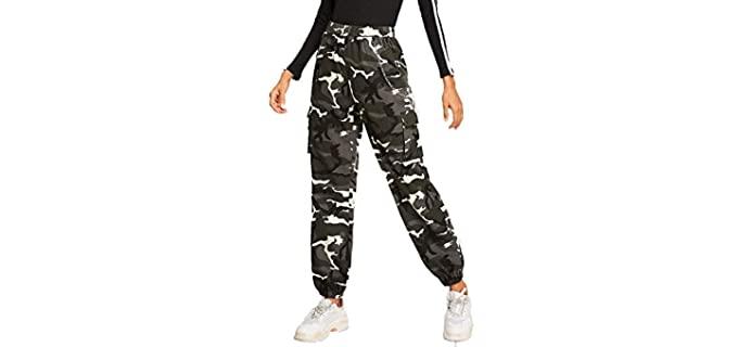 Romwe Women's Workout - Jogger Design Cargo Pant