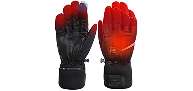 Savior Heat Unisex Electric Heated Gloves - Best Heated Gloves Liners
