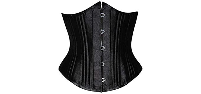 SHAPERX Women's Steel Boned Body Shaper - Best Corsets for Waist Training