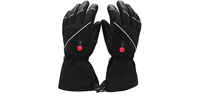 Savior Heat Unisex Skiing Gloves - Best Waterproof Gloves
