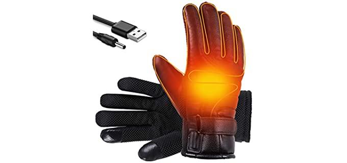 Shaboo Unisex Prints - Winter Heated Gloves