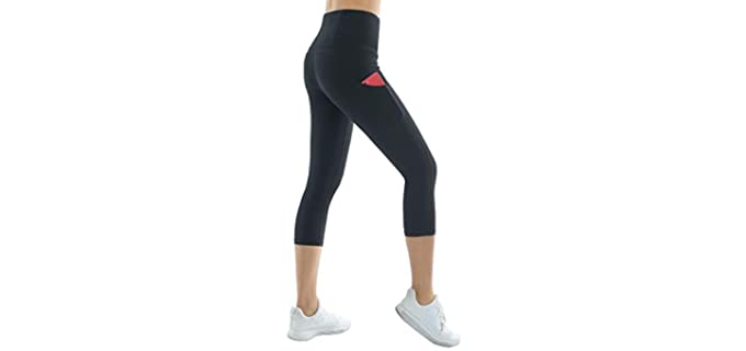 The Gym People Women's Thick - High Waist Black Legging