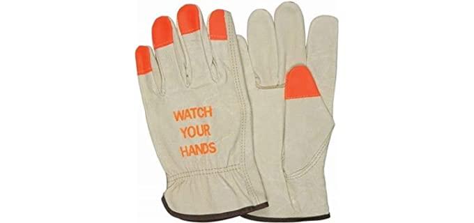 Toledano Industries Unisex Leather Work Gloves - Best Leather Work Gloves