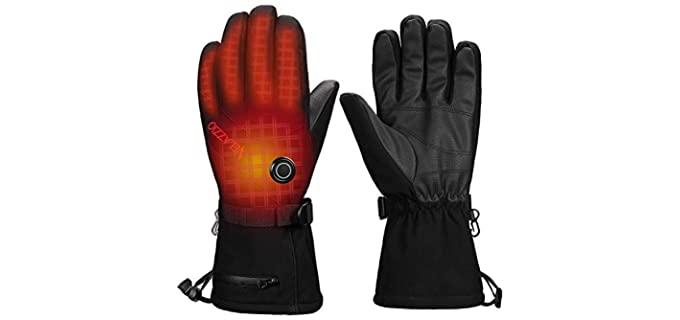 VELAZZIO Unisex Thermal Heated Gloves - Best Waterproof Winter Gloves
