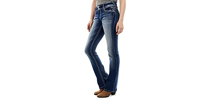 WallFlower Women's Curvy - Good Fitting Stretch Jeans