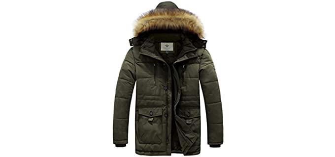 WenVen Men's Hooded - Winter Coat