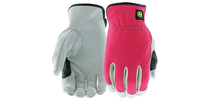 West Chester John Deere Women's Split Cowhide - Leather Work Gloves