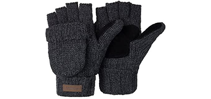 Vigrace Store Unisex Convertible - Fingerless Winter Glove