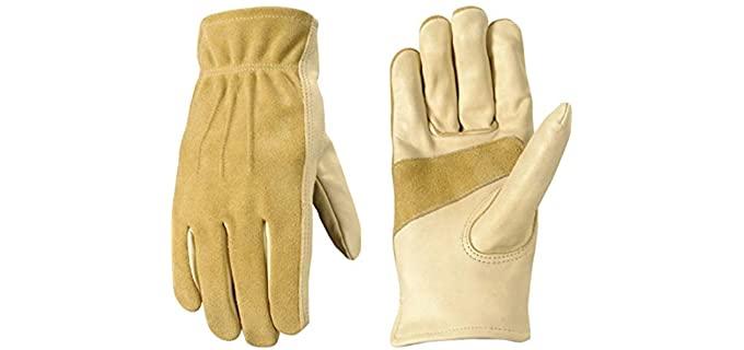 Wells Lamont Women's Garden and Work - Leather Work Gloves