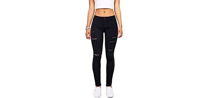 Skirt BL Women's High Waist - Butt Lift Black Skinny Jean