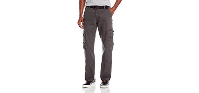 Wrangler Men's Authentics - Relaxed Fit Straight Leg Cargo Pants
