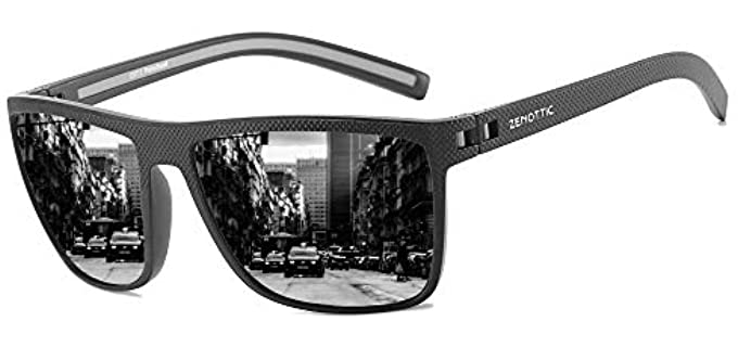 ZENOTTIC Men's Lightweight Sunglasses - Best Square Sunglasses