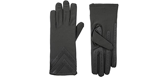 Isotoner Women's Spandex - Touchscreen Compatible Driving Gloves