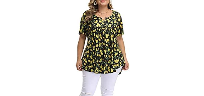 Allegrace Women's Plus Size - Plus SizeShirt for a Flat Chest