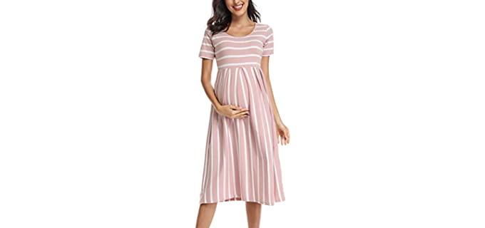 BBHopping Women's Casual - Casual Pregnancy Dress