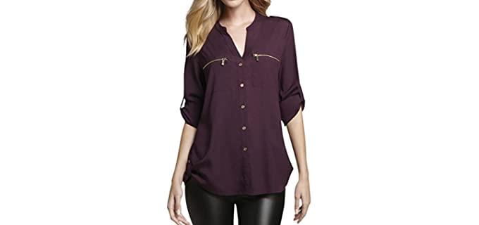 Calvin Klein Women's Modern - Best Shirts for Flat Chest