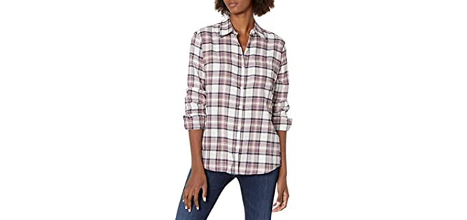 Dickies Women's Flannel - Shirt to Wear with Jeans
