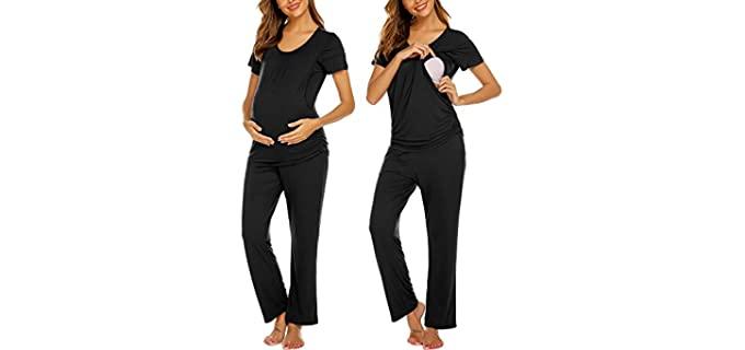Ekouaer Women's Maternity - Nursing Pajamas